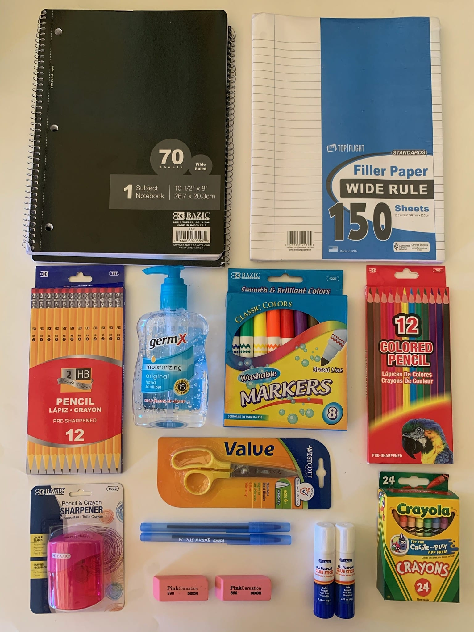 distance remote learning school supplies pack