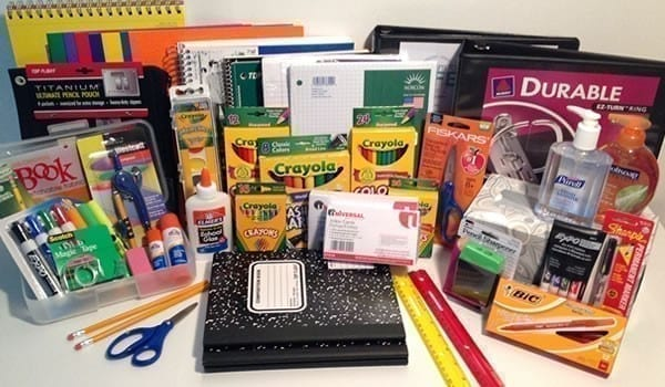 3 year old school supply pack Shenandoah K-4 school iowa