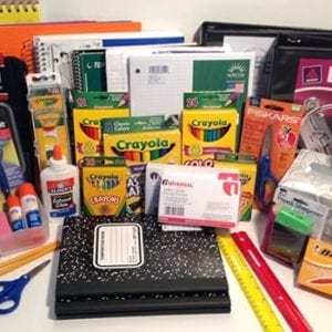 1st grade school supply pack Shenandoah K-4 school iowa